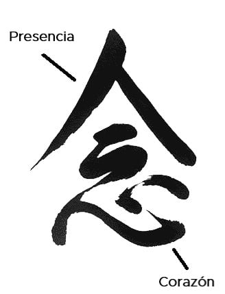 atención plena ideograma chino mindfulness